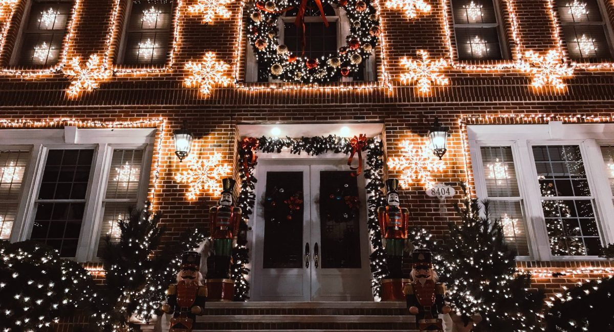 Dyker Heights in Brooklyn. Christmas in New York